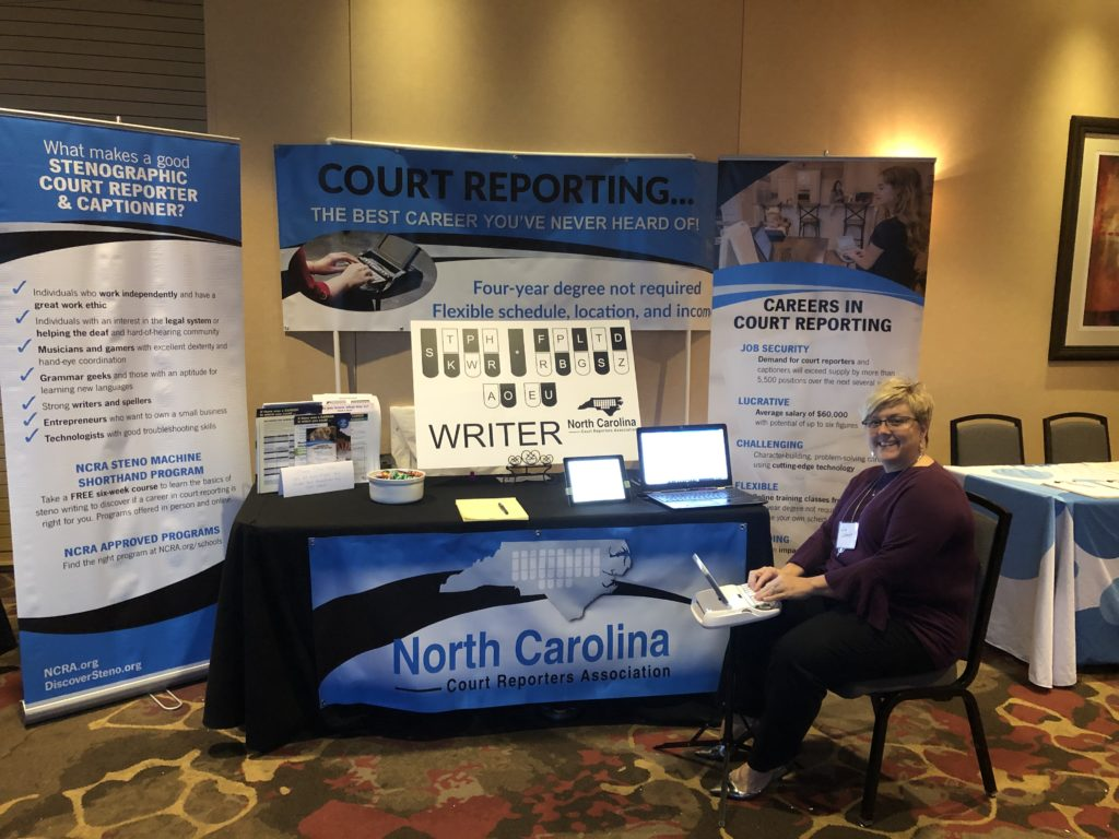 NCCRA conference booth